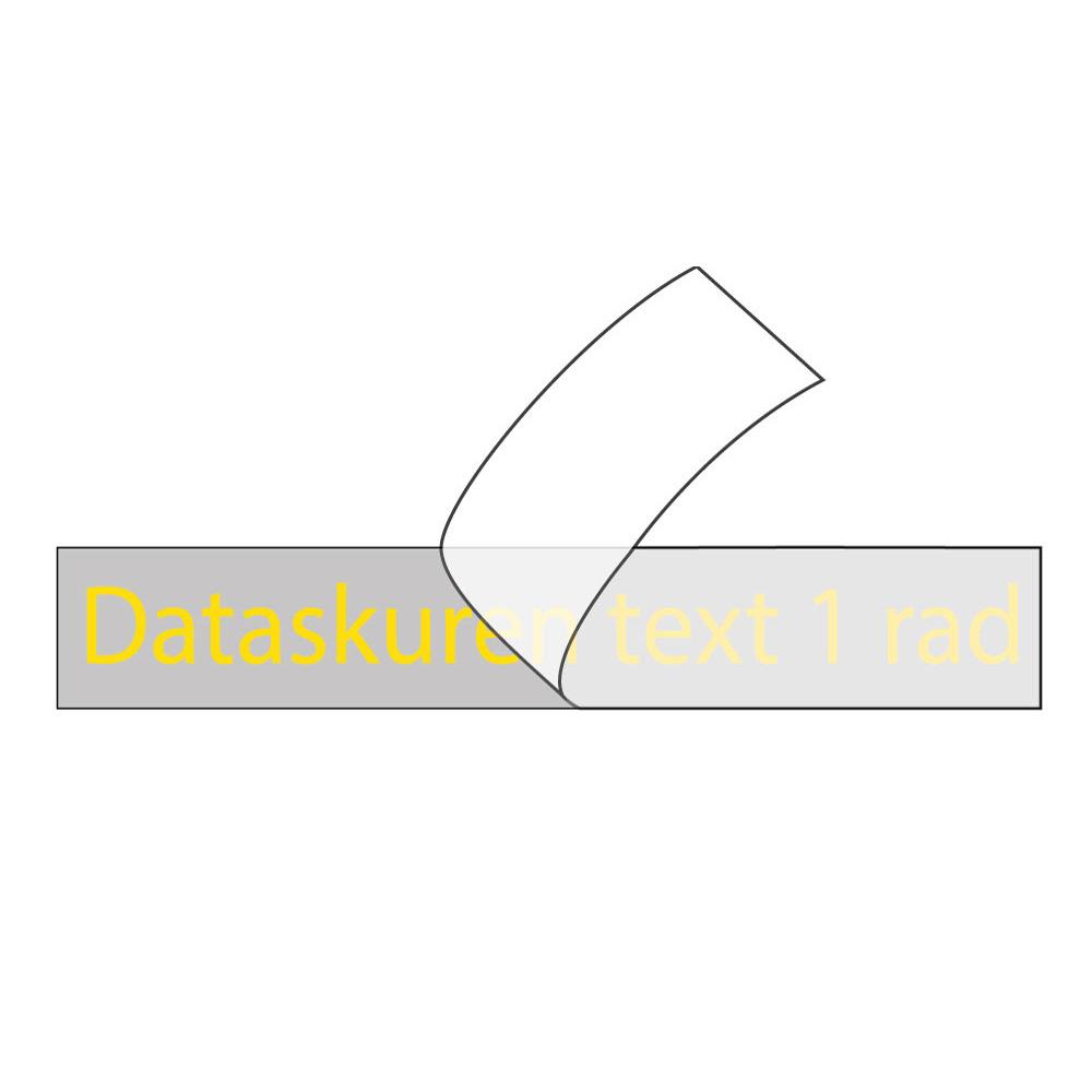 Vinyltext 55x10 cm 1 rad gul