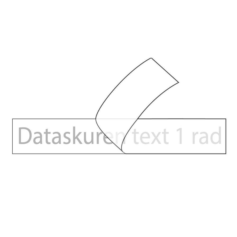 Vinyltext 80x10 cm 1 rad grå
