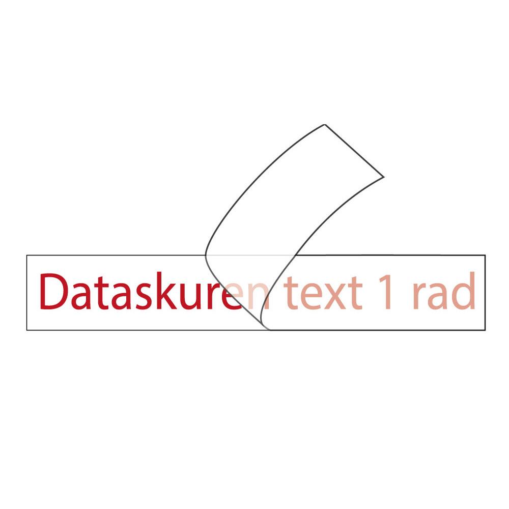 Vinyltext  250x20 cm 1 rad röd