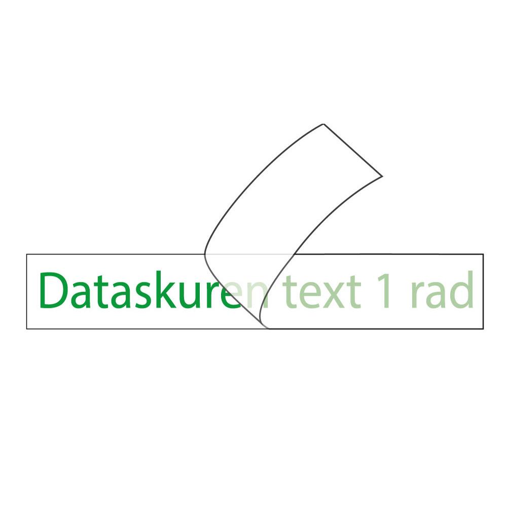 Vinyltext  250x20 cm 1 rad grön