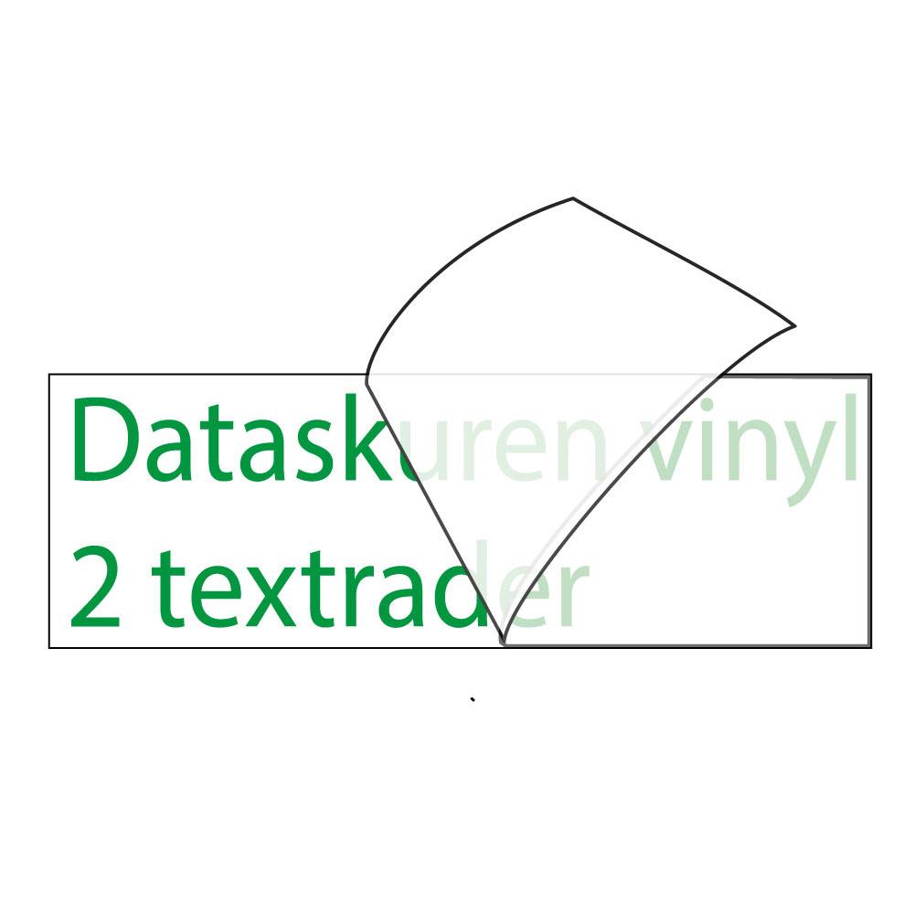 Vinyltext 55x20 cm 2 rader grön