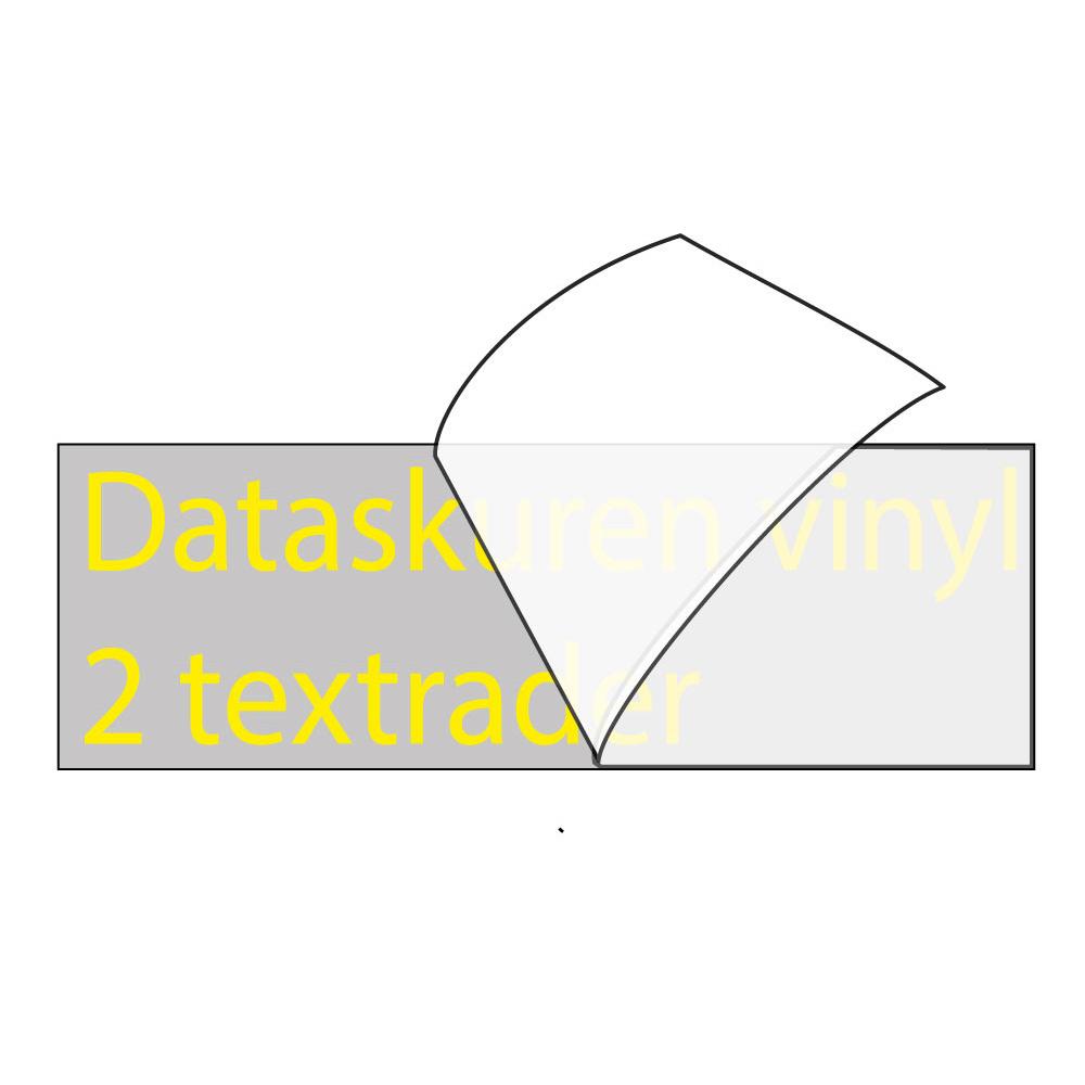Vinyltext 110x25 cm 2 rader gul