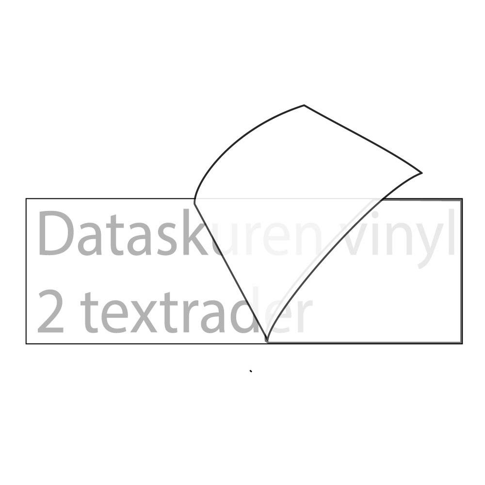 Vinyltext 110x25 cm 2 rader grå