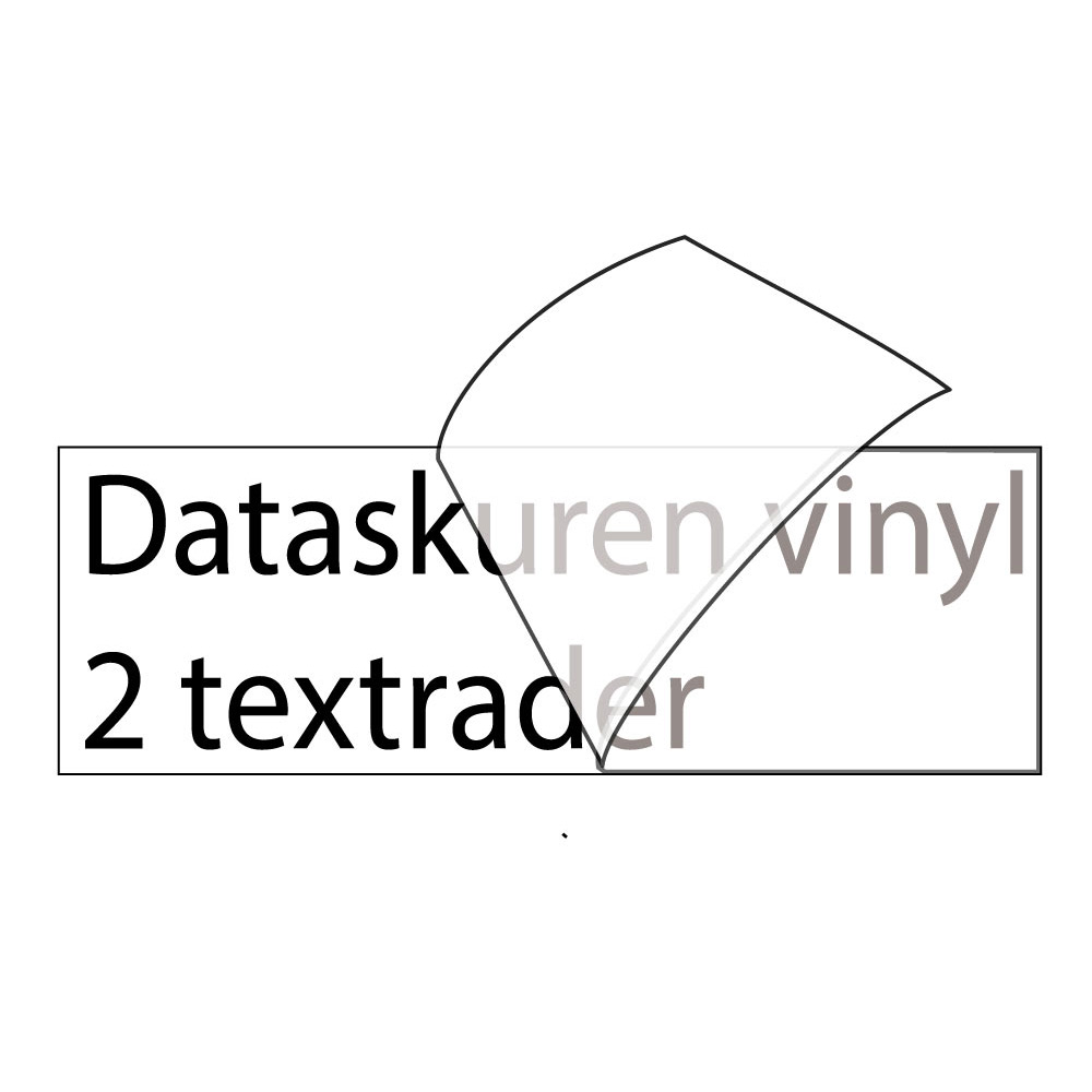 Vinyltext 110x25 cm 2 rader svart