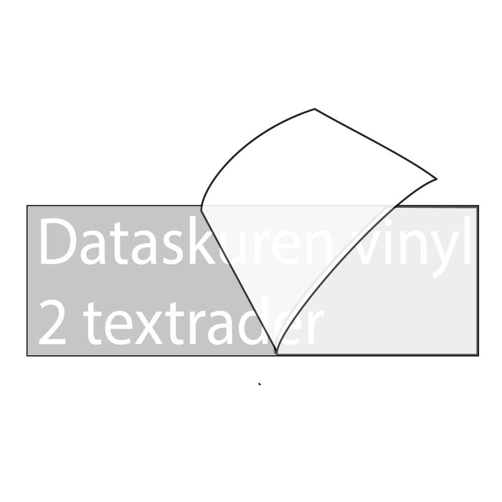 Vinyltext 150x30 cm 2 rader vit