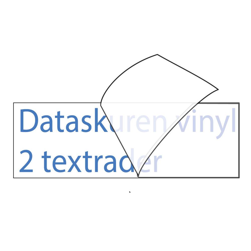 Vinyltext 150x30 cm 2 rader blå
