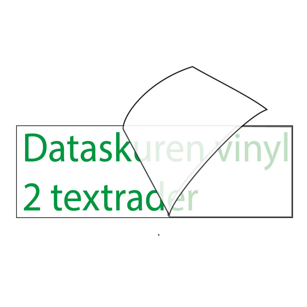 Vinyltext 300x60 cm 2 rader grön
