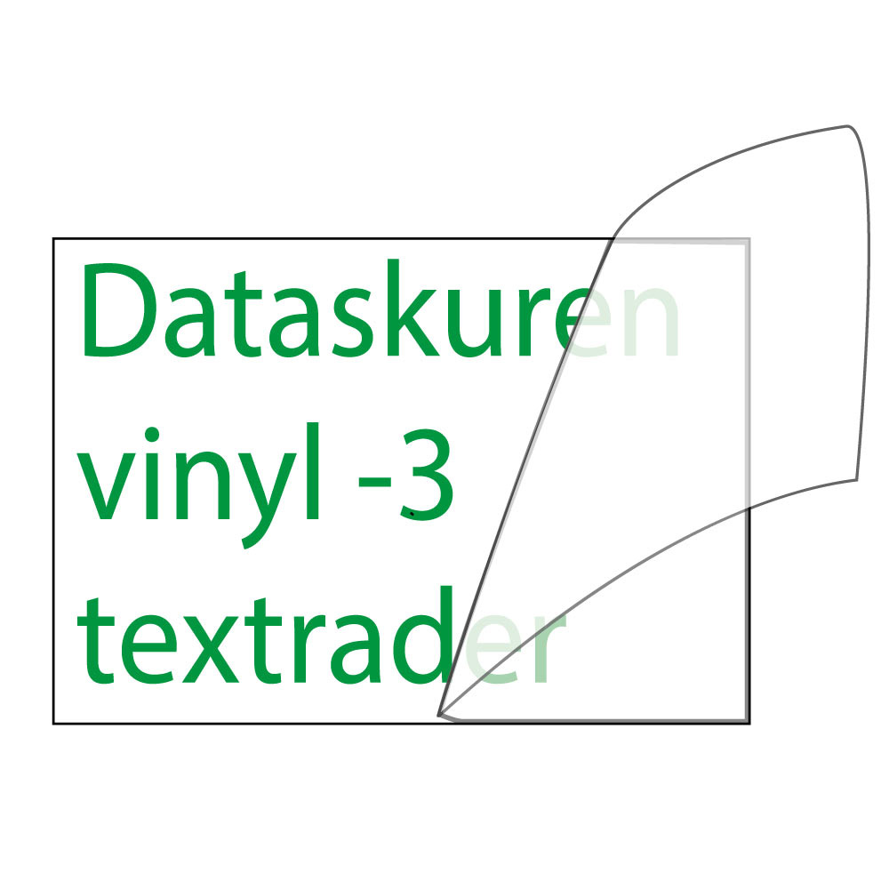 Vinyltext  30x15 cm 3 rader grön