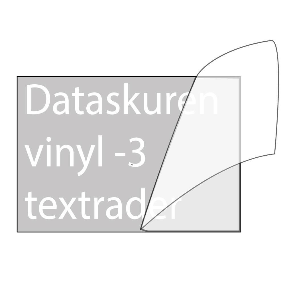 Vinyltext  110x35 cm 3 rader vit