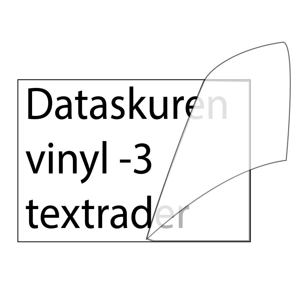 Vinyltext  110x35 cm 3 rader svart