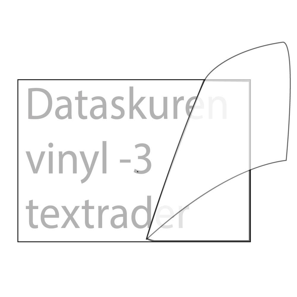 Vinyltext 200x60 cm 3 rader grå