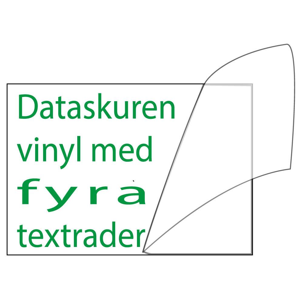Vinyltext 55x40 cm 4 rader grön