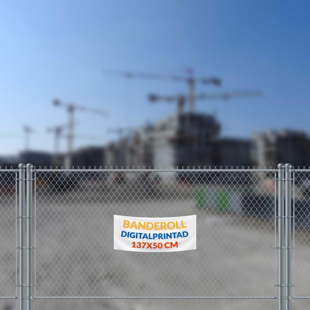 Digitalprintad banderoll 137x50 cm vit