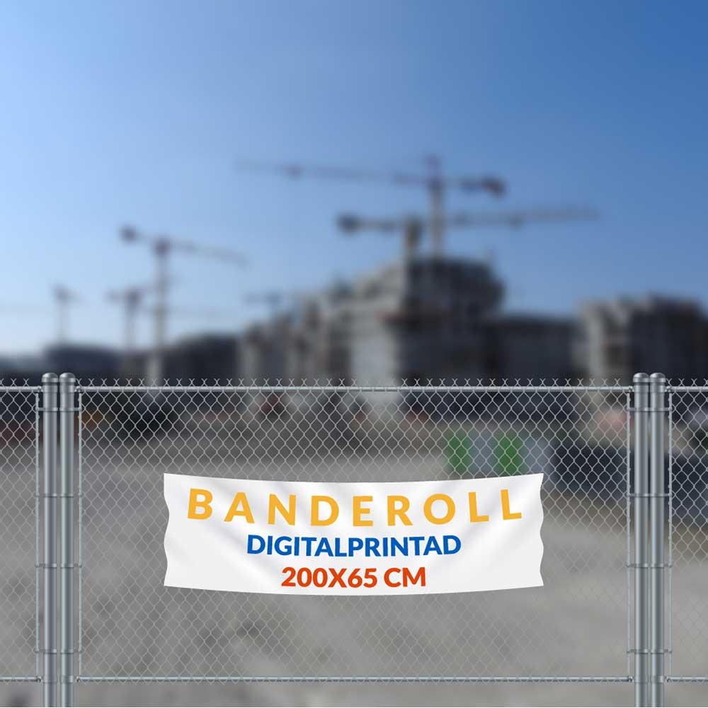 Banderoll 200 x 65 cm vit