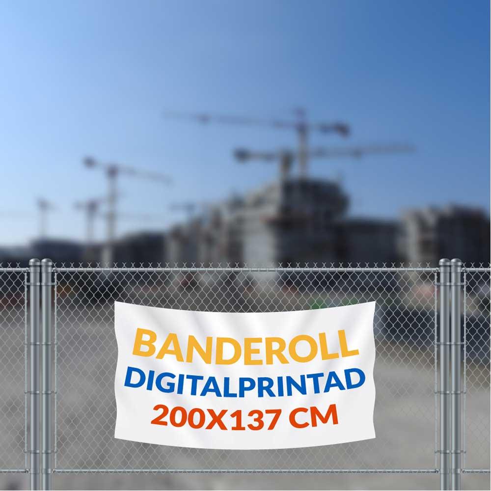 Banderoll 200 x 137 cm  vit