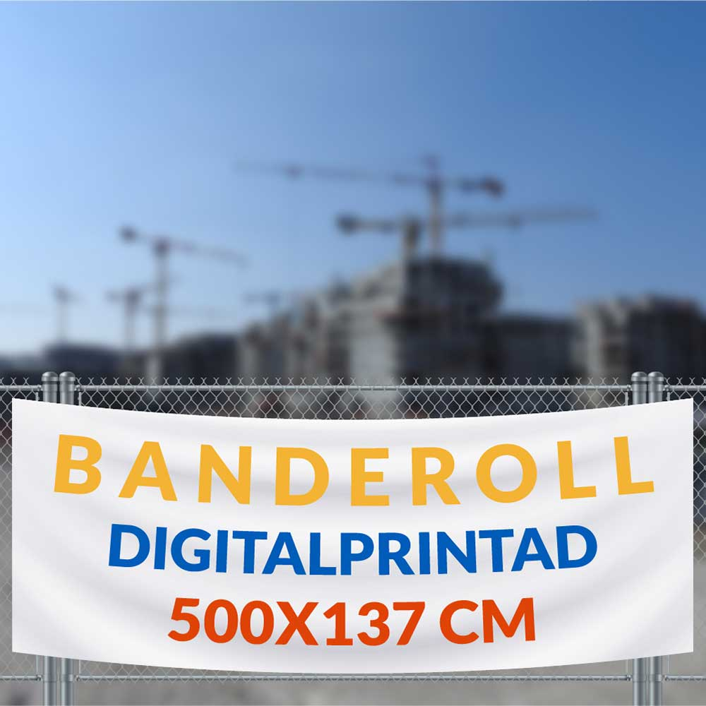 Banderoll 500x137 cm vit