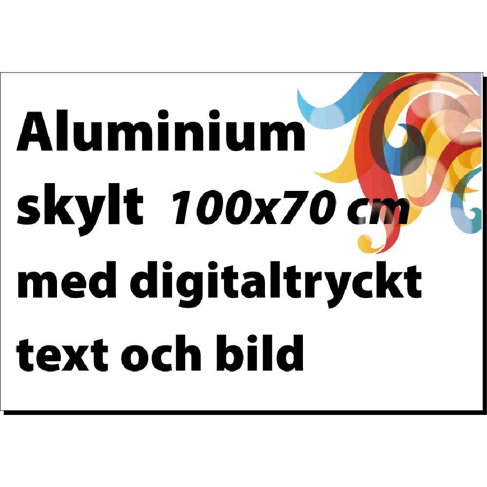 Aluminiumskylt 100x70cm vit