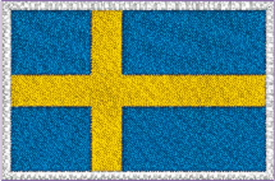 Transfermärke Flagga blå/gul