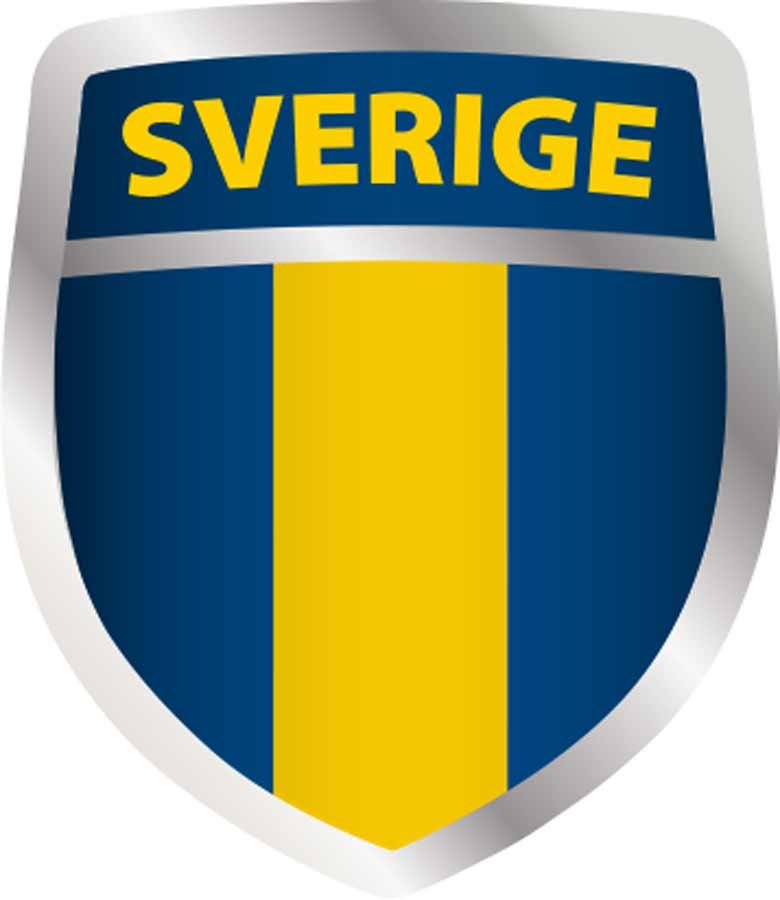 Transfermärke Sköld Blå