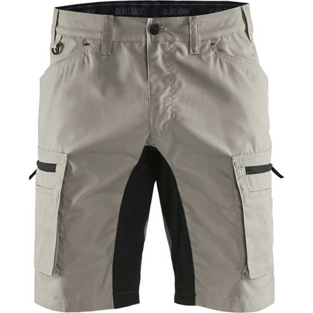 Service shorts with stretch panels Stone/Svart