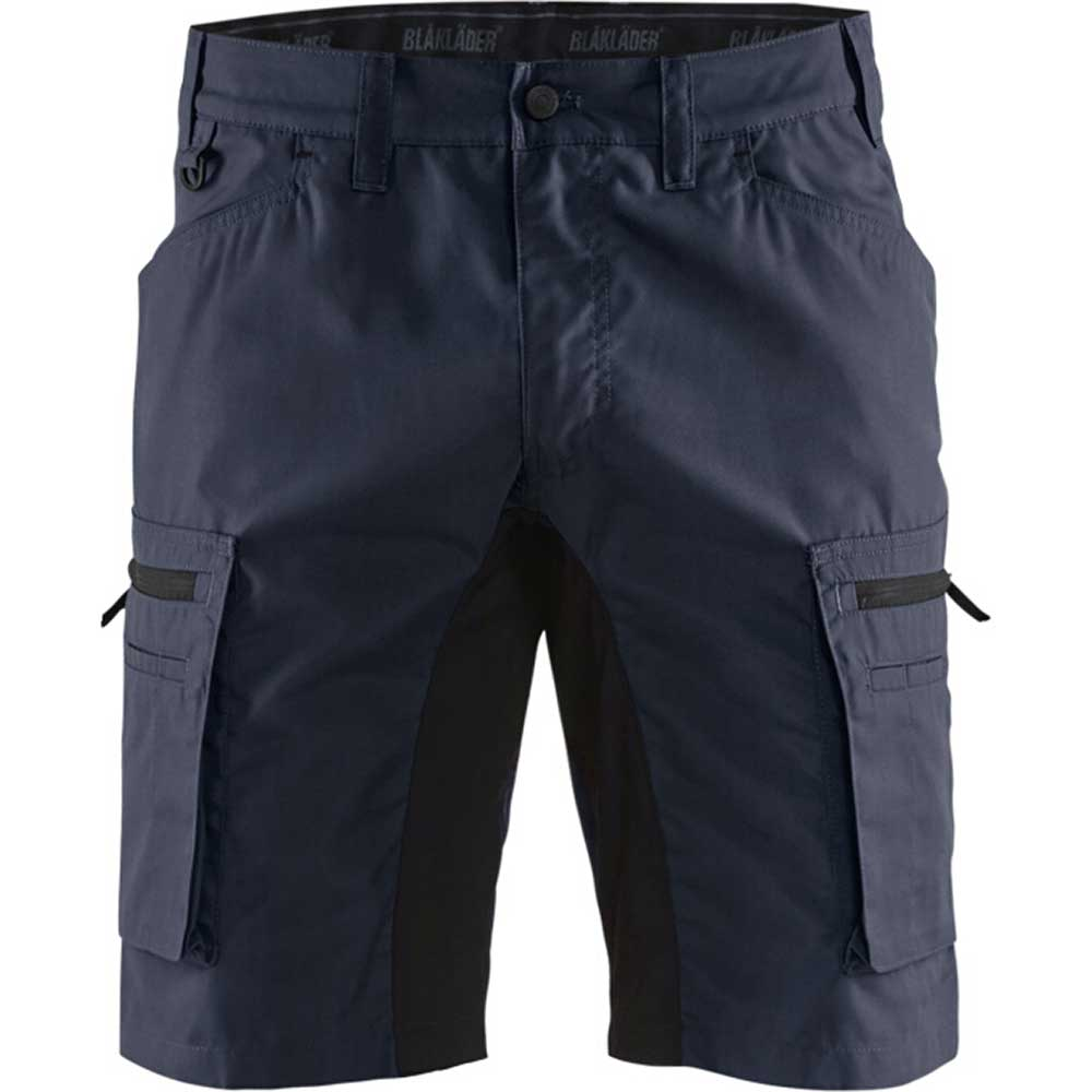 Service shorts with stretch panels Mörk marinblå/Svart