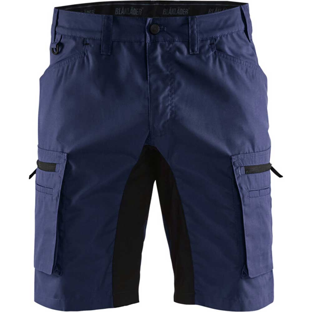 Service shorts with stretch panels Marinblå/Svart