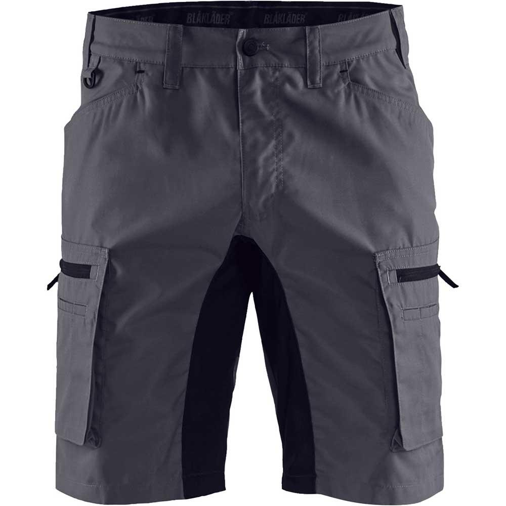 Service shorts with stretch panels Mellangrå/Svart