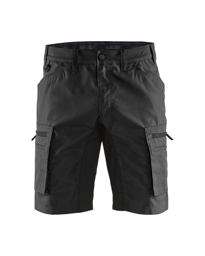 Service shorts with stretch panels Svart