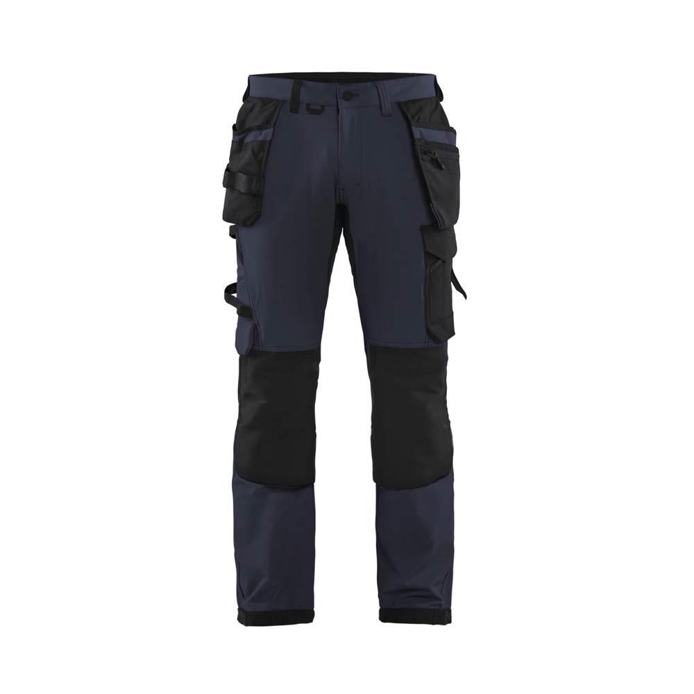 Hantverksbyxa Blåkläder fullstretch Mörk marinblå/Svart