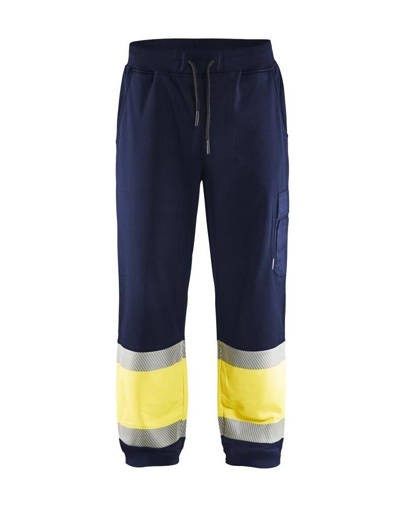 Varselbyxa Sweatshirt kl. 1 Marinblå/Varselgul