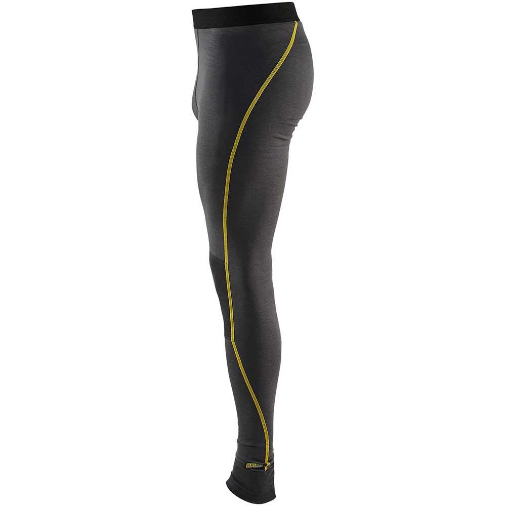 XLight Underställ Byxa Merinoull Dark grey/yellow