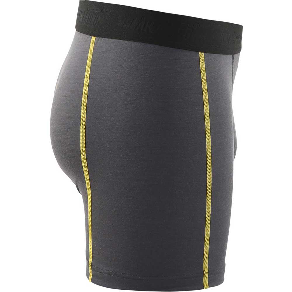 Boxershorts XLight Merinoull Dark grey/yellow