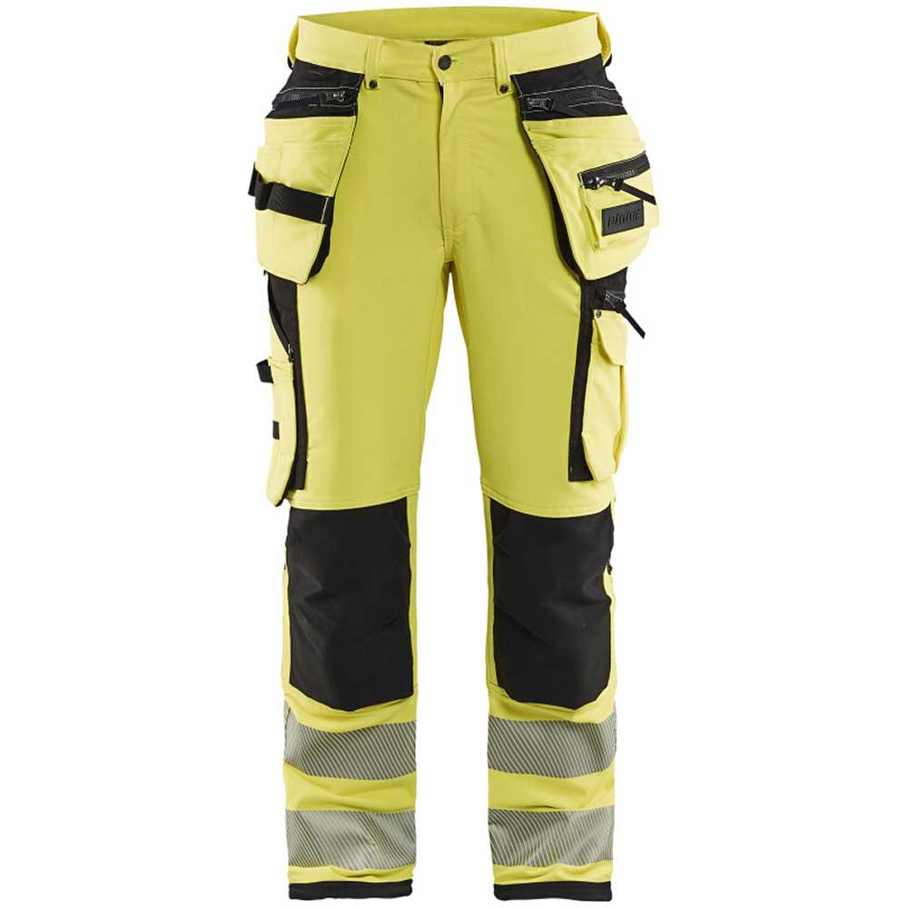 Hivis 4way stretch trouser Varselgul/Svart