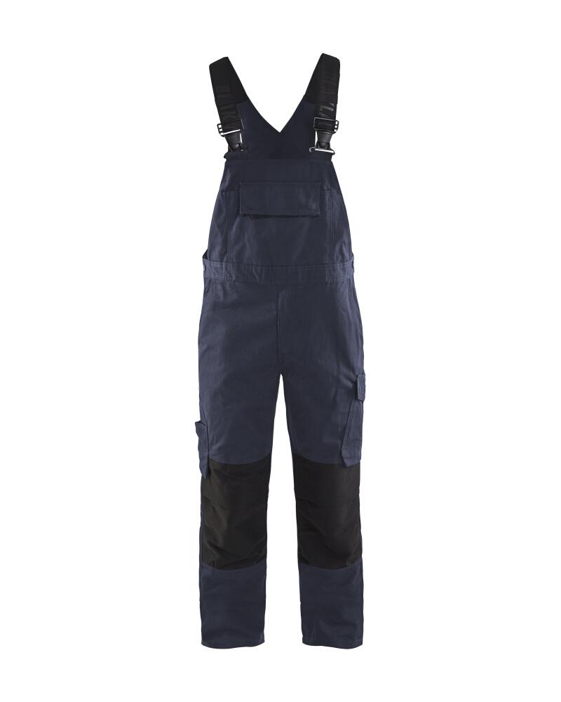 Blåkläder Hängselbyxa med stretch Mörk marin/svart