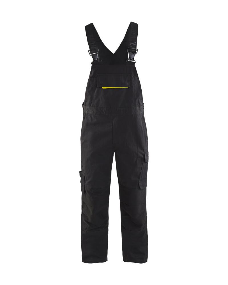 Blåkläder Hängselbyxa med stretch Svart/Gul