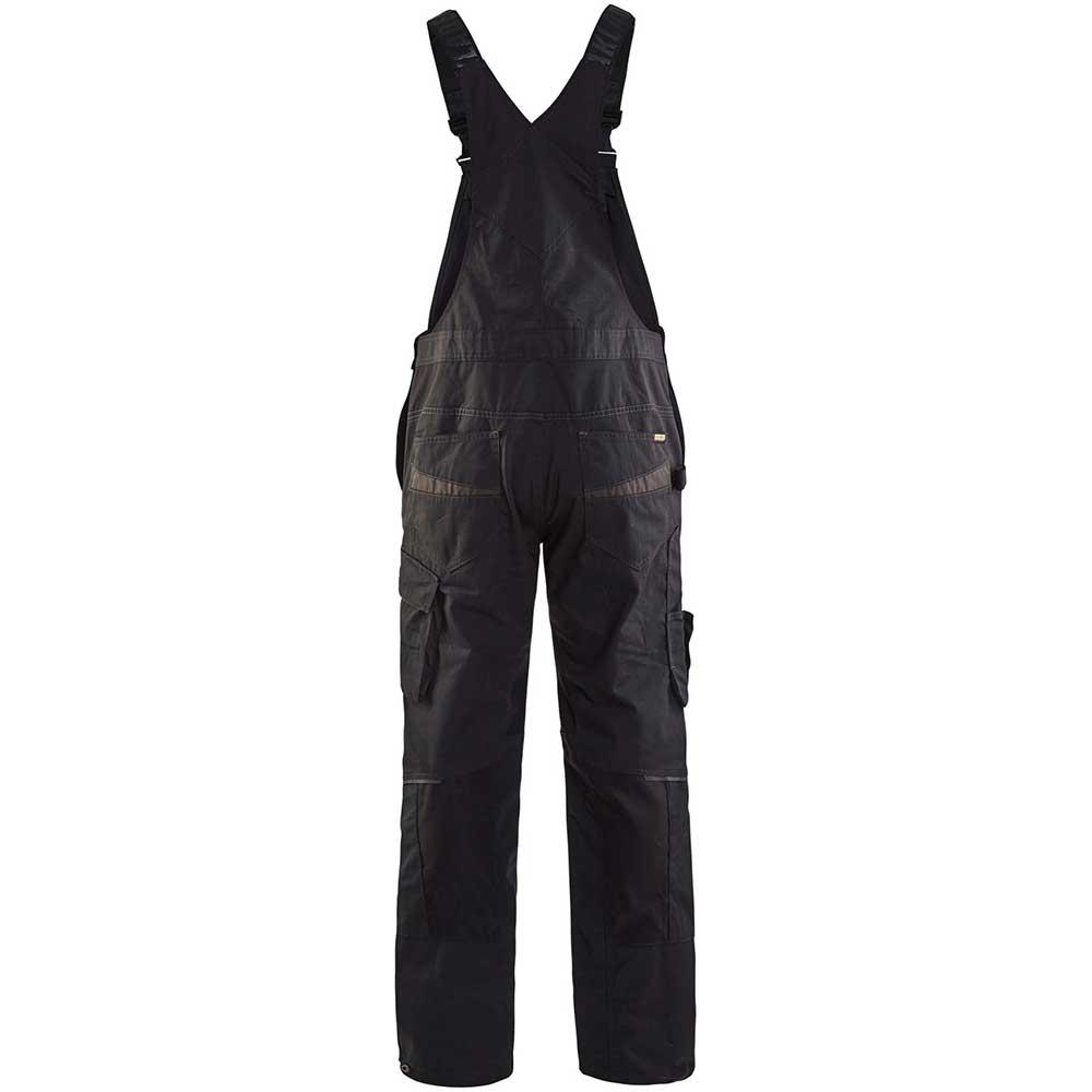 Blåkläder Hängselbyxa med stretch Black/Dark grey