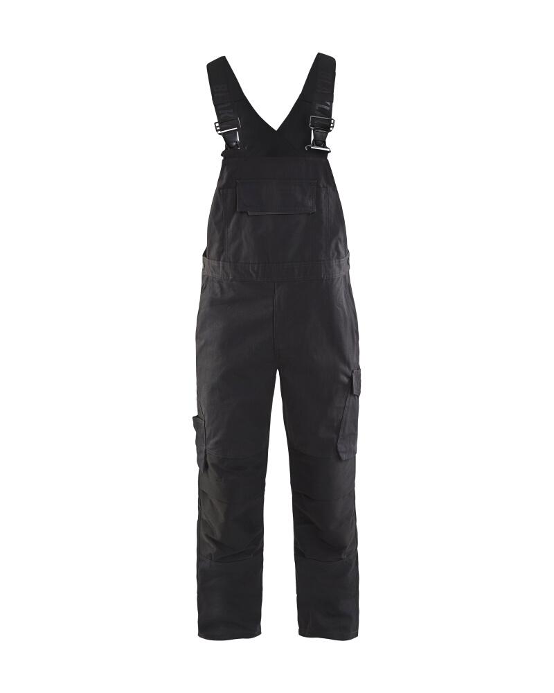 Blåkläder Hängselbyxa med stretch Svart/Mörkgrå