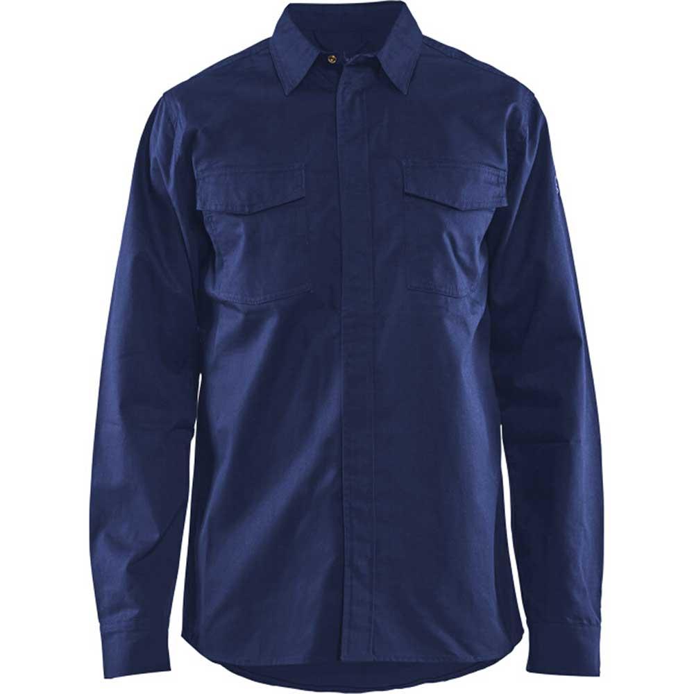 Flamskyddad skjorta Marinblå