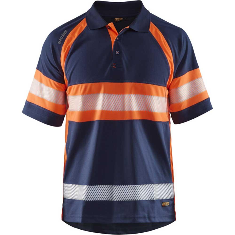 UV-skyddad pikétröja Varsel Marinblå/orange