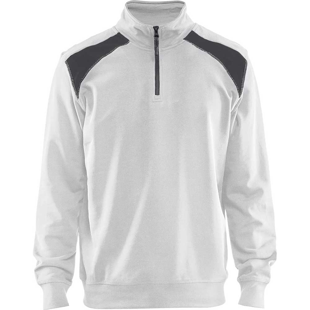 Half-zip 2-tone White/Dark grey