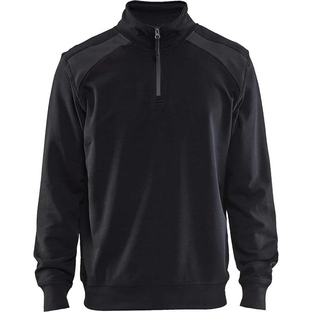 Half-zip 2-tone Black/Mid grey