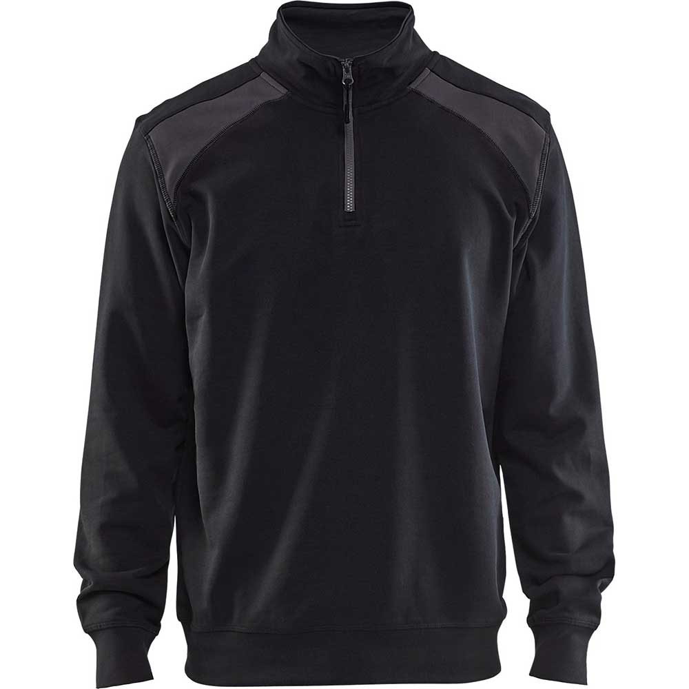 Half-zip 2-tone Black/Dark grey