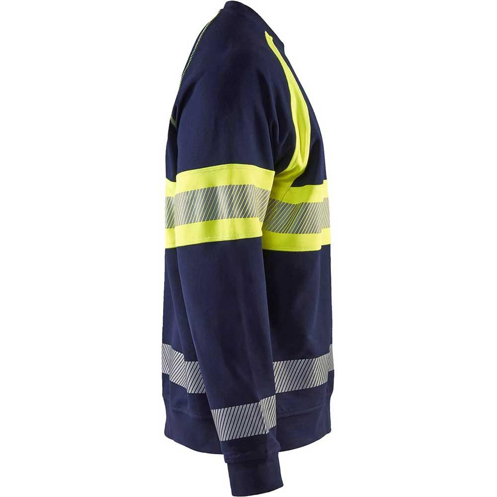 Sweatshirt Varsel kl. 1 Marinblå/Varselgul