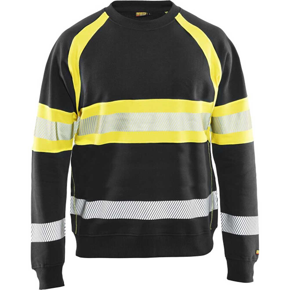 Sweatshirt Varsel kl. 1 Svart/Varselgul