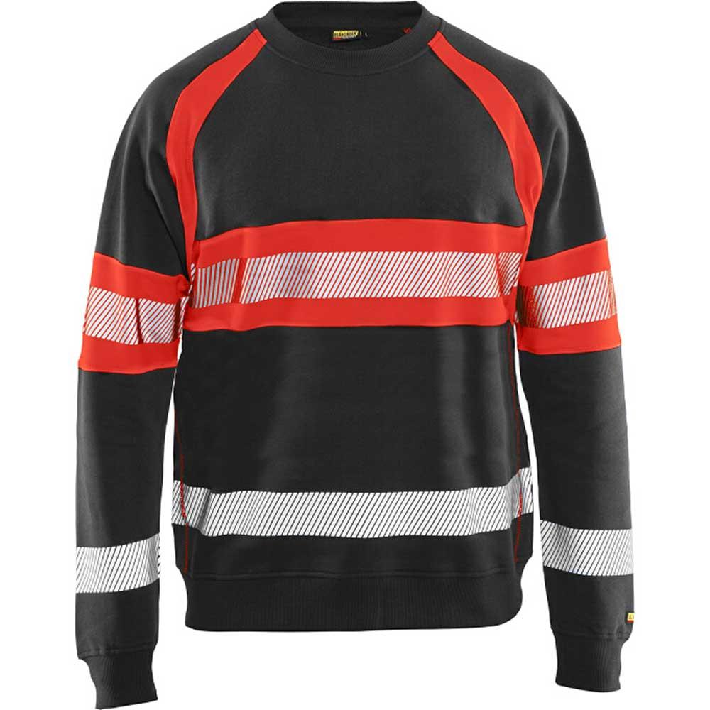 Sweatshirt Varsel kl. 1 Svart/Varselröd