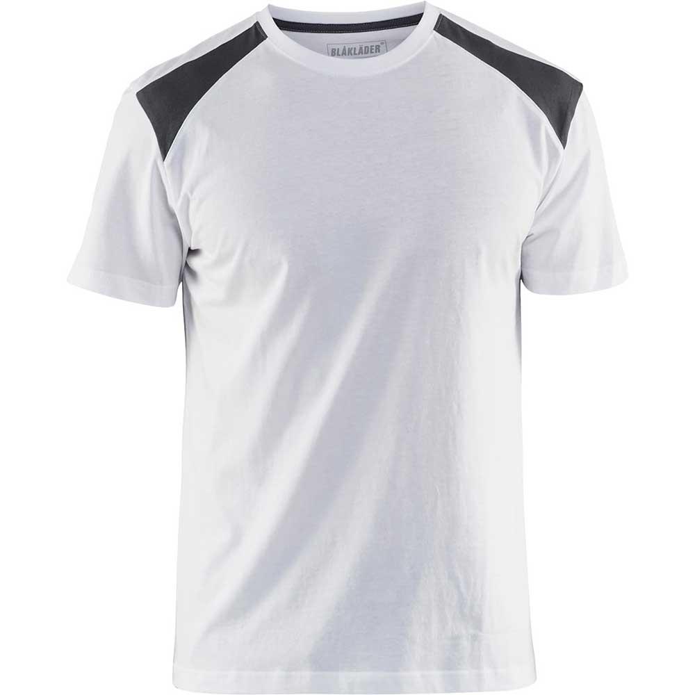 T-Shirt 2-färgad Blåkläder Vit/Mörkgrå
