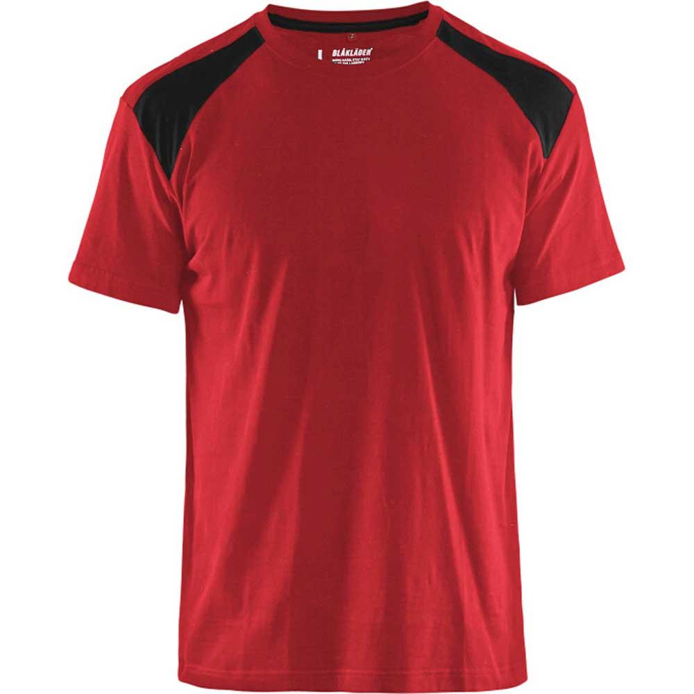 T-Shirt 2-färgad Blåkläder Röd/Svart