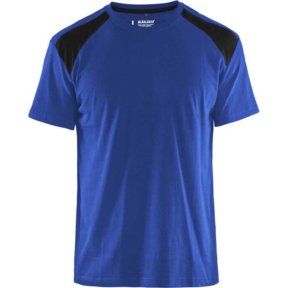 T-Shirt 2-färgad Blåkläder Kornblå/Svart