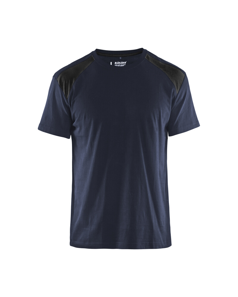 T-Shirt 2-färgad Blåkläder Mörk marinblå/Svart