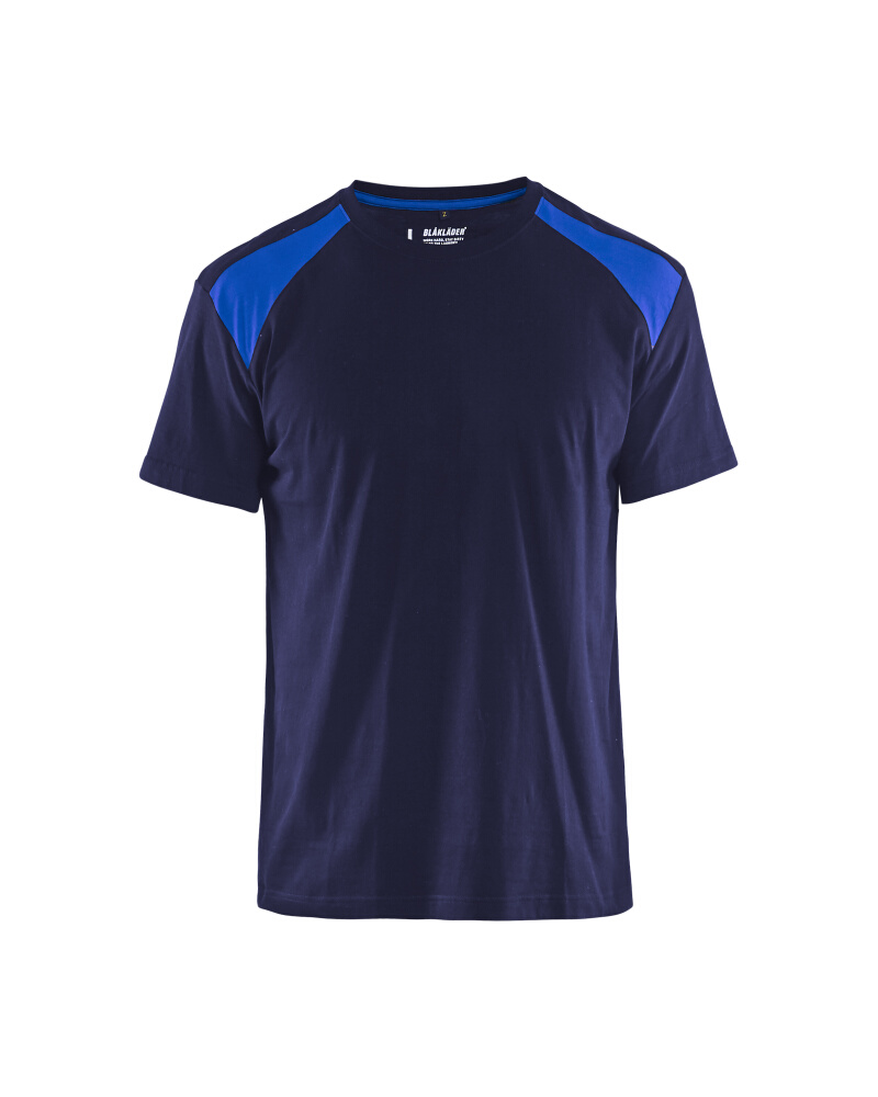 T-Shirt 2-färgad Blåkläder Marinblå/Kornblå